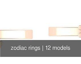 3D model zodiac rings