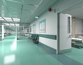 3D Hospital Ward and Hallway