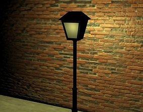 3D model low-poly street lamp