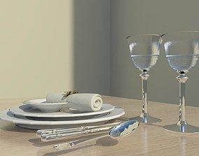 3D asset dinner set