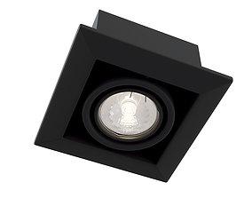 Downlight Metal Modern DL008-2-01-B Maytoni 3D model