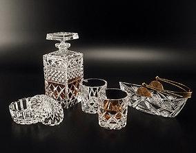 Bohemia Crystal Tableware Set 3D