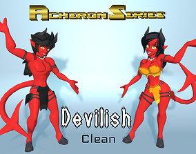 Acheron Devilish Clean 3D asset rigged
