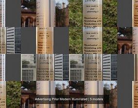 modern 3D Advertising Pillar Modern Illuminated