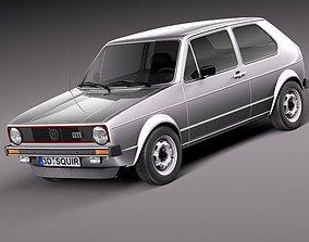 3D model Volkswagen Golf GTI mk1 1982 - 1992