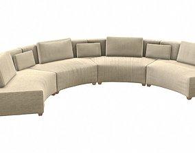 3D model Circular Fabric Sofa