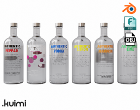 Vodka Pack 001 3D model