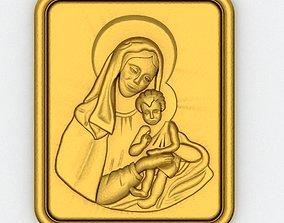 jesus Virgin Mary Pendant 3D printable model