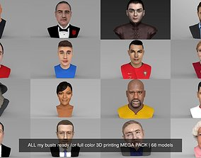 MEGA PACK 70 busts ready for full color 3D