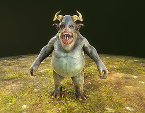 monster 3D asset rigged game-ready