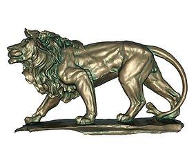 furniture Lion bronze statue 3D print model