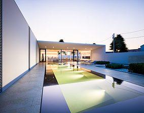 carpet Modern Pool Villa 3D model