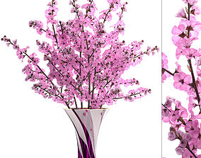 pink 3D model Sakura Bouquet