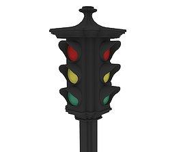 traffic light 3D model freeway