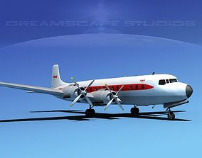Douglas DC-7C Trans World Airlines 3D