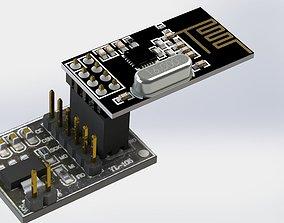 3D NRF24L01 Power adapter