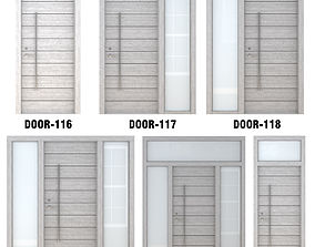 3D Door Collection-005 Gray Wood