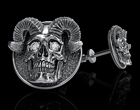 3D printable model pendant skull earrings studs