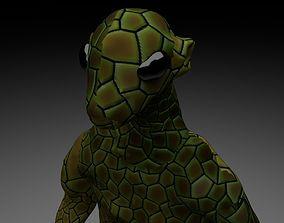 3D model Alien Reptile 1 - Material a