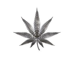 Hemp cannabis leaf 3D print model