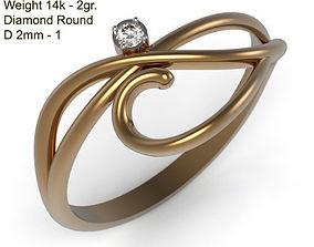 Ring MR-5 Woman Jewelry STL 3d print