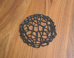 Drink coaster - Voronoi No IX 3D print model