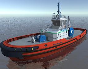 E-KOTUG tug low-poly 3d model low-poly