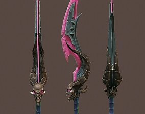 Game sword 3D asset