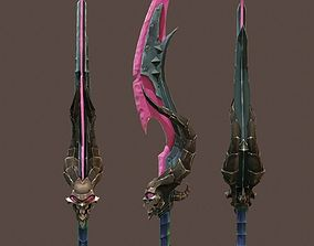 Game sword 3D asset