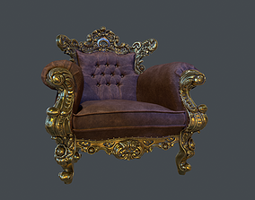3D asset low-poly PBR Classic Chair