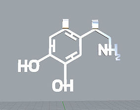3D printable model Happiness Molecule Pendant - Dopamine