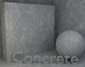 Concrete material 3D tile