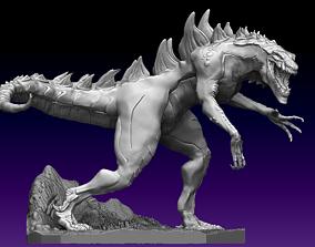 Animated Godzilla statue 3D model
