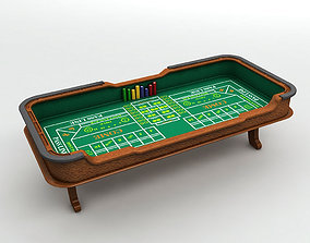 3D model Casino Craps Table With Dice and Casino Chips