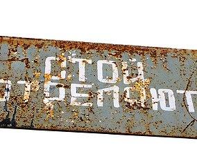 Street Sign USSR 01 03 3D model
