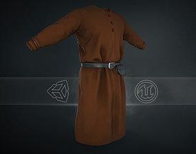 3D asset Brown Medieval Top