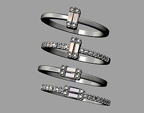 3D print model Baquette Diamond Ring