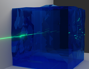 underwater optical scattering and absorption 3D model