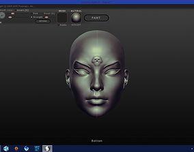 Woman Face Mask Cleopsis 3D printable model