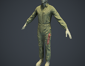 3D model Mechanic Uniform for Games