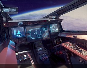 3D asset Sci Fi Fighter Cockpit 5