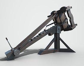 3D model animated MEDIEVAL Ballista
