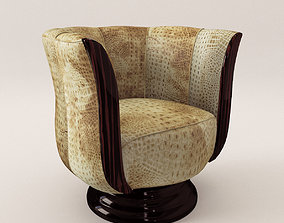 3D Rotaring fauteuil - Art Deco style