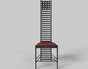 Hill House Chair by Charles Rennie Mackintosh 3D asset