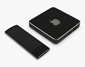 3D Apple TV Box Black Concept