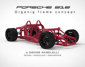 Porsche 918 Generatice Design Chassis Vision Concept 3D