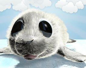 Cartoon Baby Seal Rigged 3D asset