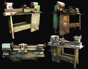 Metalworking lathe machine WWII 3D model