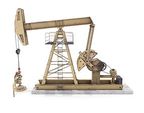 Oil Pumpjack 3 3D