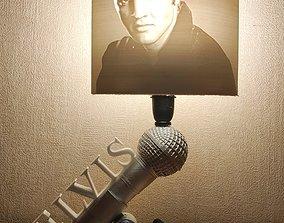 3D print model Lampe Elvis Presley pied et litophane